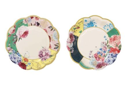 Truly Scrumptious Vintage Floral Paper Plates - Small